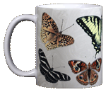North American Butterflies Ceramic Mug - Front