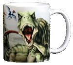 Dinosaur Trio Ceramic Mug - Back