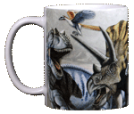 Dinosaur Trio Ceramic Mug - Front