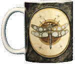 Steampunk Dragonfly Ceramic Mug