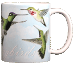 Hummingbirds Ceramic Mug - Back