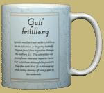 Gulf Fritillary Ceramic Mug - Back