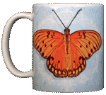 Gulf Fritillary Ceramic Mug - Front