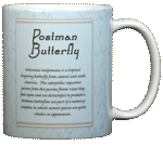 Postman Butterfly Ceramic Mug - Back