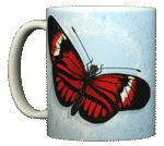 Postman Butterfly Ceramic Mug - Front