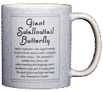 Giant Swallowtail Ceramic Mug - Back