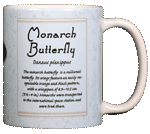 Monarch Ceramic Mug - Back