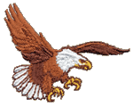 Eagle Landing Embroidered Cap