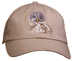Barred Owl Embroidered Cap