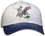 Dragonfly Pond Embroidered Cap