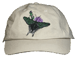 Urania Moth Embroidered Cap - Natural Unstructured Cap