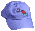 Ladybug Embroidered Cap - Cornflower Blue Unstructured Cap