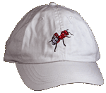 Red Ant Embroidered Cap - Natural Unstructured Cap