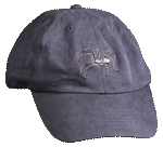 Wolf Spider Embroidered Cap - Dark Grey Unstructured Cap