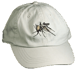 Mosquito Embroidered Cap - Natural Unstructured Cap