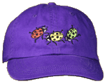 Ladybug Fun Youth Embroidered Cap