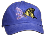 Swallowtail Butterfly Embroidered Cap