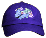 Morpho Passion Embroidered Cap