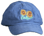 Sunflowers Embroidered Cap - Lt Denim Unstructured Cap