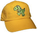 Baby Dino Embroidered Cap - Yellow Unstructured Cap
