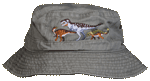 Dino Boy Embroidered Youth Bucket Cap