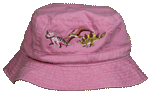 Dino Girl Embroidered Youth Bucket Cap