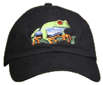 Red Eyed Tree Frog Embroidered Cap