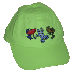 Dart Frog Fun Youth Embroidered Cap - Neon Green Unstructured Youth Cap