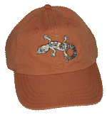 Leopard Gecko Embroidered Cap - Tangerine Unstructured Cap