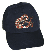 Corn Snake Embroidered Cap - Navy/Red Trim Unstructured Cap
