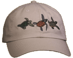 Sea Turtle Trio Embroidered Cap