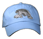 Manatees Embroidered Cap