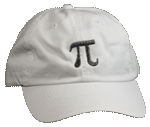 Pi Embroidered Cap - White Unstructured Cap