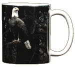 Bald Eagle Ceramic Mug - Back
