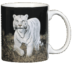 White Tiger Ceramic Mug