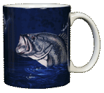 Large Mouth Bass Ceramic Mug - Back