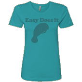 Easy Does It Manatee Ladies T-shirt