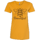 Bee Beautiful Ladies T-shirt