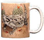 Horned Lizard Ceramic Mug - Back