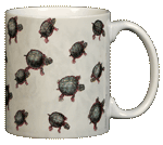 Turtles Ceramic Mug - Back