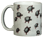 Turtles Ceramic Mug - Front