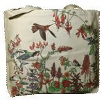 Hummer Garden Canvas Tote - Back