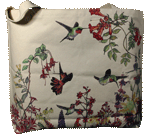 Hummer Garden Canvas Tote test8