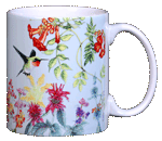 Hummer Garden Ceramic Mug  (blue) - Back