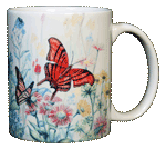 Butterfly Garden Ceramic Mug - Back