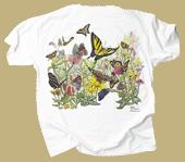 Butterfly Garden Adult T-shirt - Back