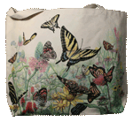 Butterfly Garden Canvas Tote - Back