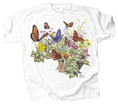 Butterfly Garden Adult T-shirt