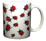 Ladybugs Ceramic Mug - Back