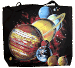 Planets Canvas Tote